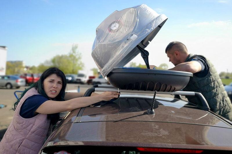 Багажник Modula CS на крыше, автобокс